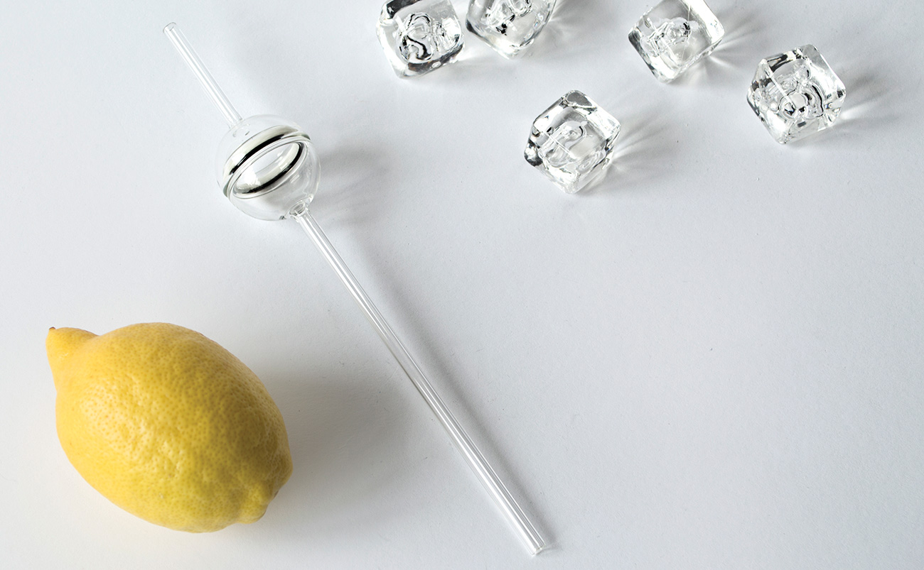 Flavour Straw for Remy Martin. Taste exotic flavours with this premium glass straw designed by Jordi Pla
